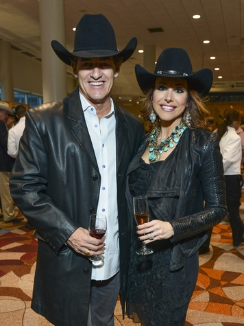 20 Nick Florescu and Dominique Sachse at the RodeoHouston Wine Auction Dinner March 2014