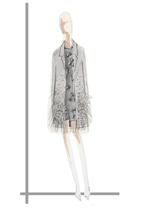 Clifford New York Fashion Week Fall 2015 February 2015 Lela Rose feather coat