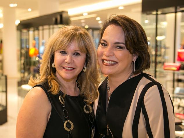Cyndy Garza Roberts, left, and Rosi Hernanez at the Latin Women Initiative's kick-off luncheon February 2014