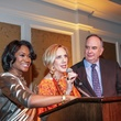 Samica Knight, from left, Sharon Bryan and Gary Patterson at the Young Audiences of Houston Gala April 2014