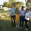 3 David Lynn, from left, Monica Slusser, Kate Champion and McStephen Dadzie at the Toss for Texas Children's Hospital October 2014