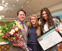 Michael Mithoff, Mia Mithoff and Melissa Mafrige Mithoff at Passion for Fashion luncheon