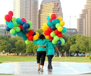 Amplify Austin balloons skyline