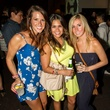 Shaynil Dalton, from left, Caitlin Deorak and Ashely Ferguson at the MFAH Mixed Media Party June 2014