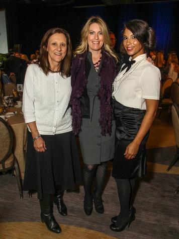 Carol Yartym, Amy Olsen, Amal Rhoe, CARE Breakfast