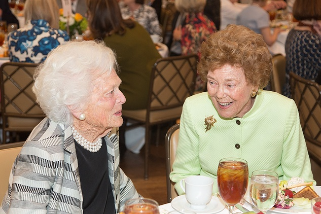 VEPS Luncheon, March 2016, Barbara Bush, Helen Vietor