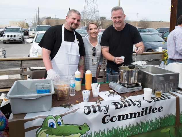 Justin Turner, from left, Emily Durham and Doug Sewell at the Casa de Esperanzas Young Professional Chili Cook-off February 2014