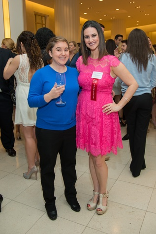 Sarah Pepper, left, and Lauren Finkelstien at the Leukemia & Lymphoma Society Man & Woman of the Year Kick-off April 2015
