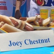 Nathan's Famous Hot Dog Eating Contest 2017 Joey Chestnut sign