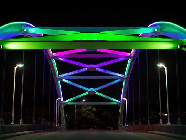 Montrose bridge lights