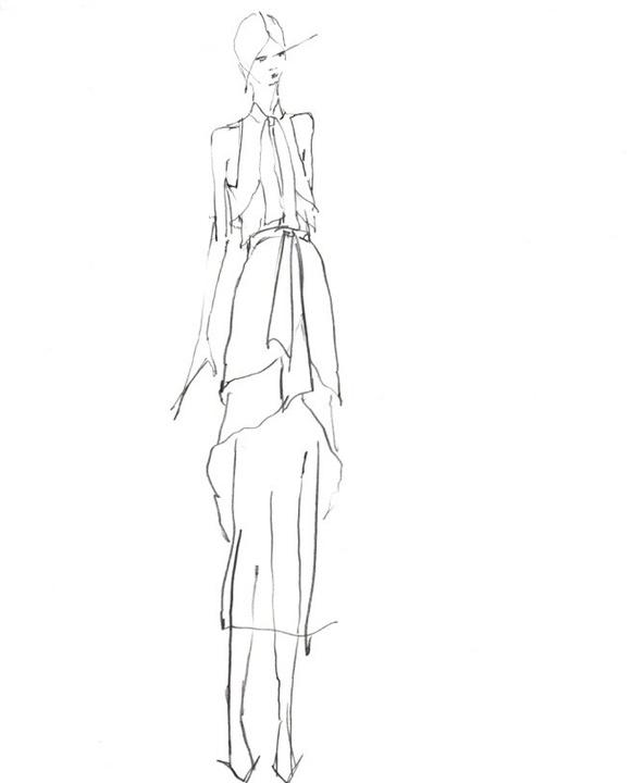 Wes Gordon designer inspiration sketch spring 2017