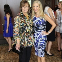 Women's Hospital of Texas Labor Day luncheon and fashion show August 2013 Event Chairs Linda Russell and Michelle Smith