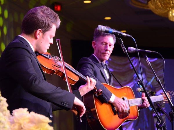 Texas Heart Institute, 50th anniversary gala, September 2012, Luke Bulla and Lyle Lovett