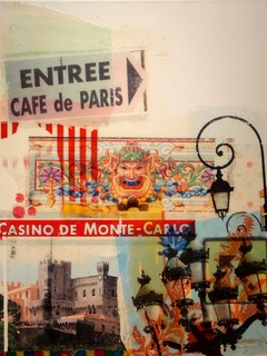 """painting """"Monte Carlo"""" by Formula 1 artist Mark Dickens"""