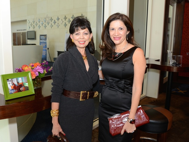 3 Danielle Ellis, left, and Alex Blair at the Dec My Room luncheon October 2014