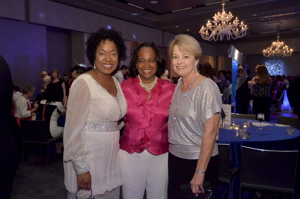 best party ever Event Co-Chair Toya Haley, Mayor Pro-Tem Sheryl Cole and Event Co-Chair Cathy Casey