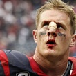 J.J. Watt Houston Texans bloody nose after loss to Seahawks September 2013