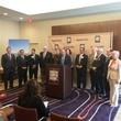 Ric Campo and Super Bowl bid committee May 22, 2013