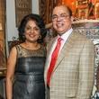 Omana and Sam Abraham at the Abraham's Oriental Rug dinner September 2014
