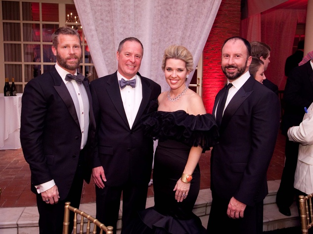 9 Kevin Black, from left, Tim and Marian Hilpert and Tony Bradfield at the Junior League of Houston Charity Ball February 2014