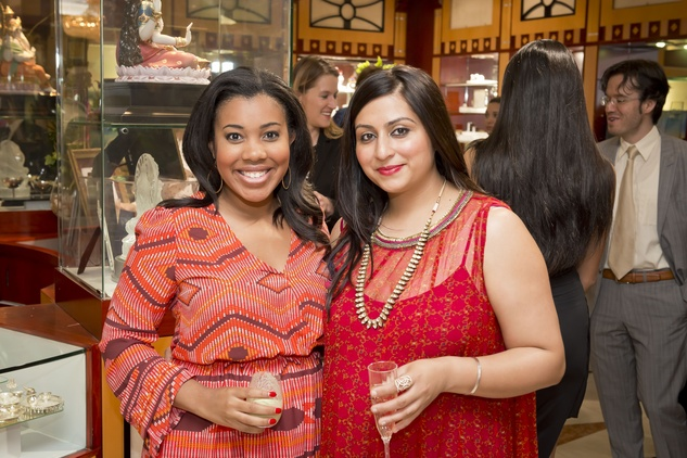 2. Ashley Seals, left, and Girija Patel at the Houston Grand Opera Ovation Awards April 2015