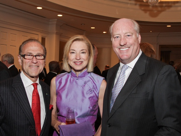 Robert Sakowitz, from left, with Meredith and Fielding Cocke at the Best Cellars dinner.