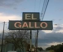 El Gallo Austin restaurant sign