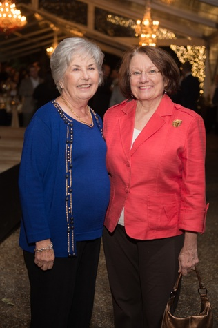 7061 Evelyn Boatwright, left, and Kathy Hubbard at the Heritage Society Gala December 2014