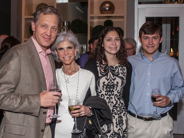 13 Scott and Judy Nyquist, from left, Sarah Nyquist and Jake Nyquist at the Bruce Munro VIP reception at Discovery Green November 2014