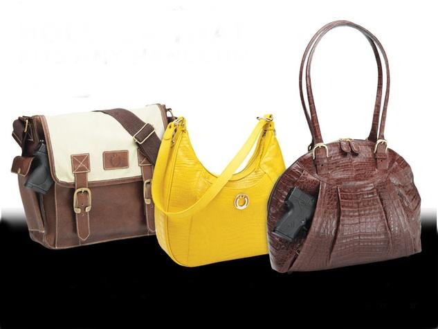 Designer concealed carry handbags by Kate Woolstenhulme