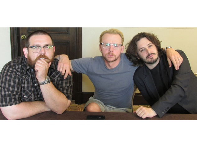 Nick Frost, from left, Simon Pegg and Edgar Wright The World's End August 2013