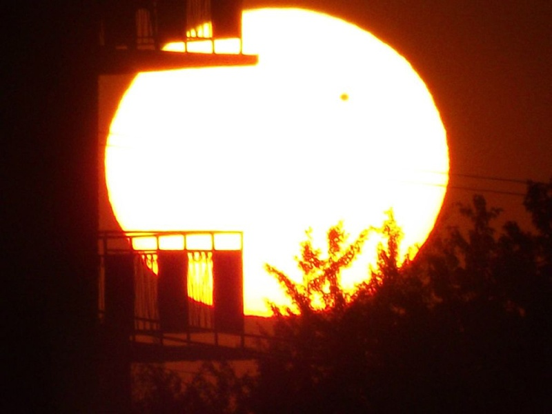 Venus, transit, by Hamilton Weather