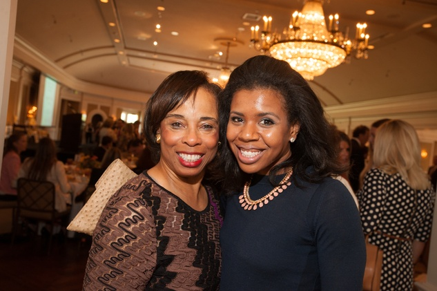 Phyllis Williams, left, and Claire Cormier Thielke at the Foundation for Teen Health luncheon October 2014
