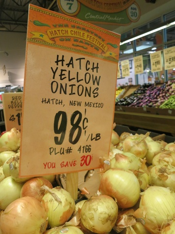 hatch yellow onions at Central Market