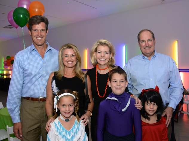 1 Haag and Millette Sherman, from left, Gloria Sherman, Michelle and Jeff Foutch, John Avery Foutch and Alexandra Foutch at The Menil Collection Halloween party October 2013