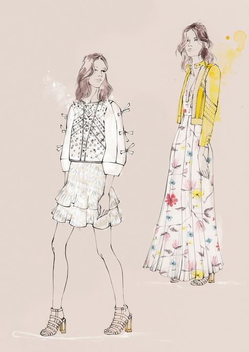 Rebecca Taylor inspiration sketch New York Fashion Week Fall 2016