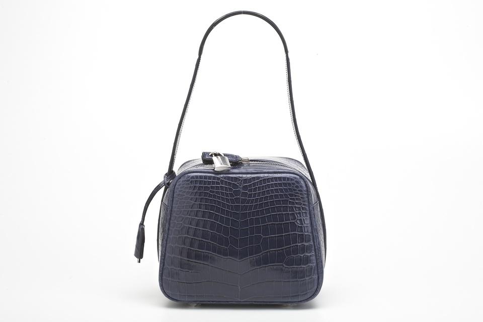 Ferragamo crocodile runway handbag