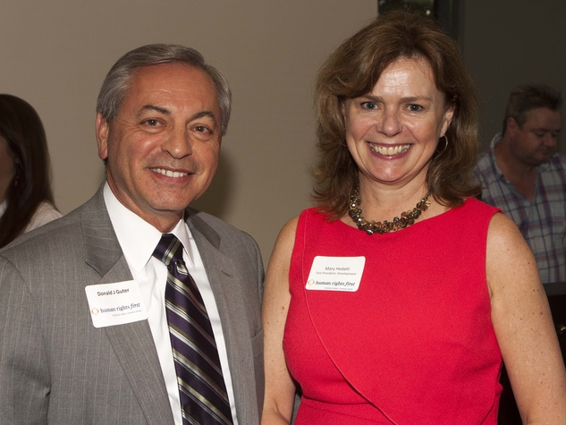 Don Guter and Mary Hedahl at Human Rights First office launch