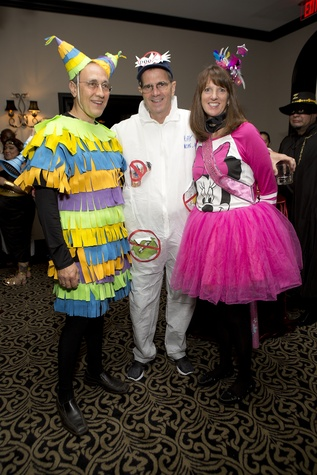 Myron Vernis, from left, Jim Fasnacht and Kim Vernis at The Bash A Halloween Happening October 2014
