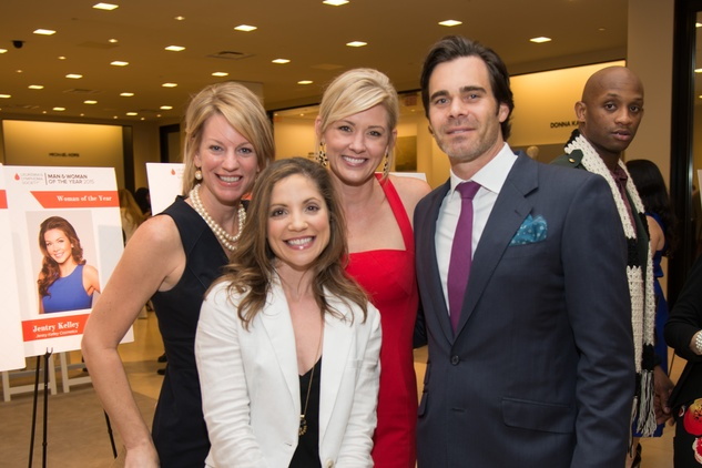 Angela Nolan, from left, Angie Guiberteau and Stephanie and Scott Sanders at the Leukemia & Lymphoma Society Man & Woman of the Year Kick-off April 2015