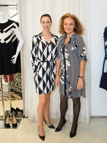 Maxine Trowbridge and Diane von Furstenberg