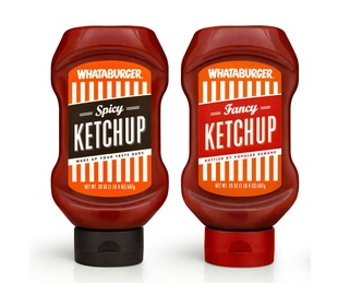 Whataburger spicy and fancy ketchup