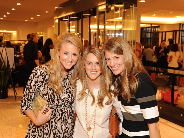 15 Raine Falik, from left, Caroline Bean and Katie Zorich at The Orange Show's A Couture Cause party