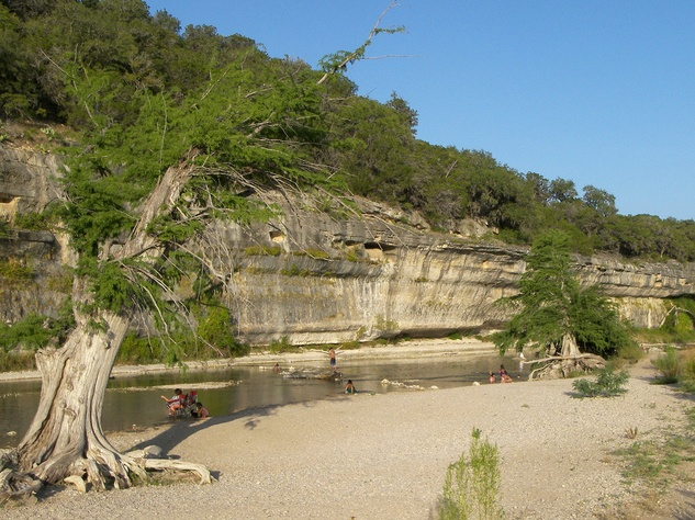 bluff in the Guadalupe River State Park