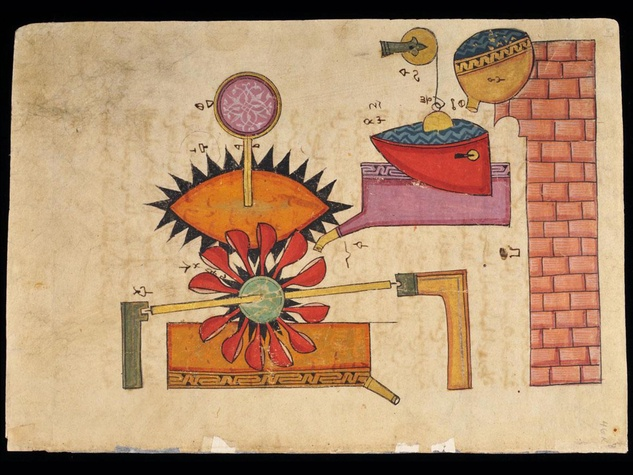 MFAH, Arts of Islamic Lands, al-Sabah Collection, November 2012, Folio depicting a water clock