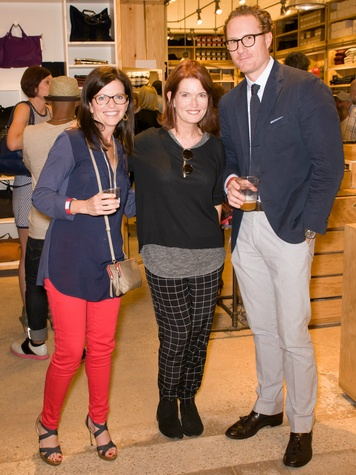 Lisa Gold, Trish Donnelly, Gray Madden at Steven Alan store opening in Dallas