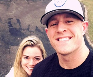 Houston, Kealia Ohai and JJ Watt, November 2017