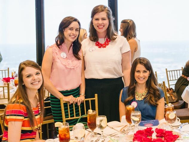 Samantha Darnell, Hailey Bain, Charlotte Baker, Katie Myers, polish luncheon