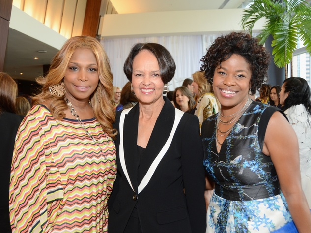 31 Nicole West, from left, Gayla Gradner and Kafi Slaughter at the Best Dressed luncheon March 2015