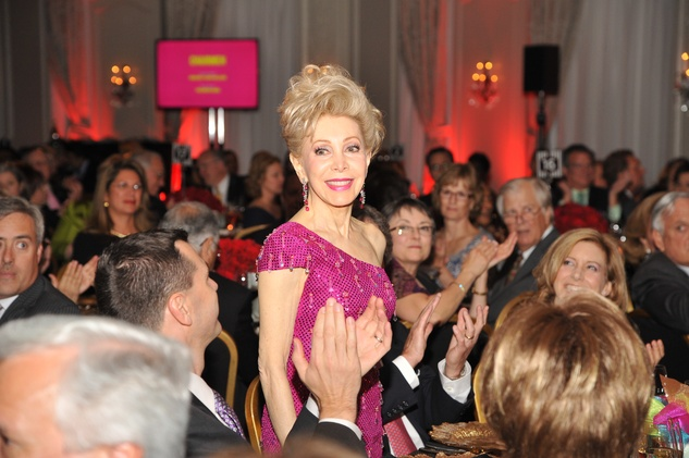 Margaret Alkek Williams at the Houston Arts Alliance event with Rita Moreno May 2014